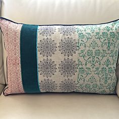 Turkish Handmade Cushion by Aegean Loom -Beautiful velvet hand blocked, hand printed cushion. Great home decor. Shop online now.#turkish #cushions #turkishcushions #homewares #giftsforhome #giftsforher #giftsforhome #interiors #organic #wedding #weddinggifts #