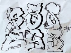 F sketch graffiti letter f 3d art model graffiti for Mobel 9 buchstaben