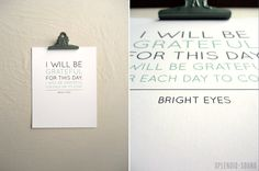 Cool idea, eh? You could change the quote daily! :)