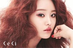 SECRET's Ji Eun is vibrant in red for 'CeCi' | allkpop.com