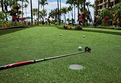 On the green at Marriott's Maui Ocean Club