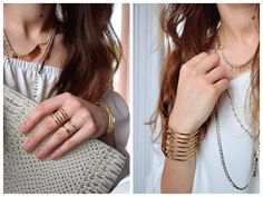 Celestial Sparkle Ring | Riad Layering Necklace | All in Pouch Exotic | Stella & Dot | Becker Cuff