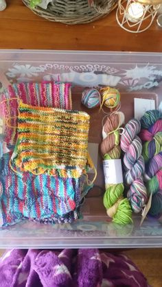 Fight club yarn and blanket squares