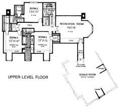 Second Floor Plan of Victorian   House Plan 66178
