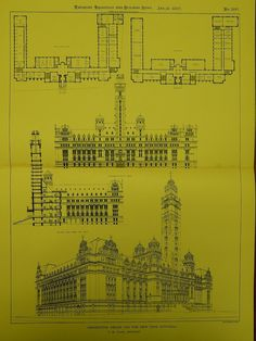 Design for the New York City Hall in New York NY, 1897. T. M. Clark