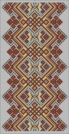 Border Embroidery Designs, Cross Stitch Embroidery, Embroidery Patterns, Crochet Patterns, Tribal Print Pattern, Tribal Prints, Palestinian Embroidery, Creative Embroidery, Ethnic Patterns
