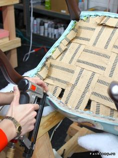 Step of a 3 part tutorial on reupholstery Furniture Reupholstery, Furniture Fix, Reupholster Furniture, Recycled Furniture, Furniture Makeover, Diy Chair, Upholstered Chairs, Soft Furnishings, Restaurant