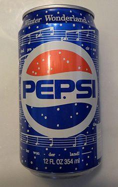 1990 - 12 ounce Pepsi Winter Cool Can (Winter Wonderland) Diet Pepsi, Pepsi Cola, Drinks Logo, Fun Drinks, Beverages, Discontinued Food, Mercedes Benz Wallpaper, Pop Drink, Retail Signs
