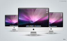 iMac PSD Mockup