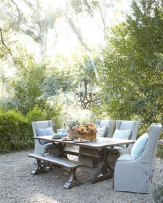 Park Shore Outdoor Dining Furniture by LANE VENTURE at Horchow.