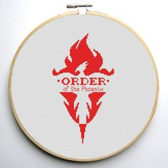 Harry Potter Order of the Phoenix free cross stitch pattern Cross Stitch Heart, Modern Cross Stitch, Cross Stitch Designs, Cross Stitch Patterns, Cross Stitching, Cross Stitch Embroidery, Embroidery Patterns, Harry Potter Cross Stitch Pattern, Cross Stitch Silhouette