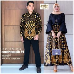 Wedding couple fashion dresses 62 Ideas for 2019 Muslim Fashion, Hijab Fashion, Fashion Dresses, Dress Outfits, Blouse Batik, Batik Dress, Dress Batik Kombinasi, Batik Muslim, Mode Batik