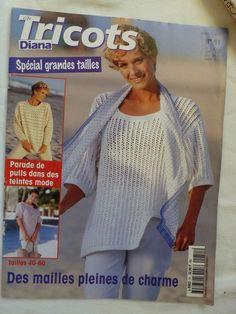 catalogue ,  Diana tricot Spécial grandes tailles ,pulls et gilets femme  comprenant 29 modèles inédits