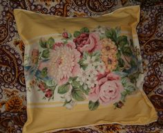 Handmade Pillows Set of 3 Cottage Chic Pretty Yellow by softlychic