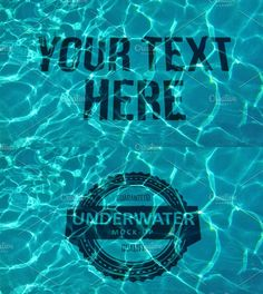 Underwater Mock-up by Seceme Shop on @creativemarket