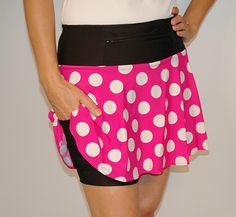 PinkMiniTech 1/2 marathon skirt? Has shorts underneath!