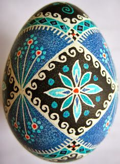 Saving the World: One Egg at a Time: Lacy Waves with Blue Flowers