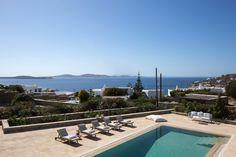 5 Bedroom, pool villa, decorated with original custom made art Make Art, Mykonos, Greece, Bbq, Villa, The Originals, Bedroom, Outdoor Decor, Artist