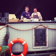 Will and Anthony at our seafood bar today #Falmouth #OysterFestival
