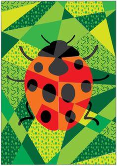 Male einen schönen Marienkäfer - ganz unten auf der Seite - oder eins der anderen Bilder.