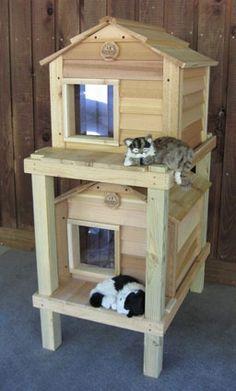 Casa Para Gatos  Somos SLEEPETS™ La Marca que consiente a tu mascota. Contáctenos y cotice con nosotros! http://sleepets.wix.com/sleepets: