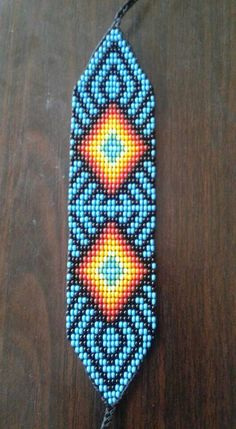 Peyote Beading Patterns, Loom Bracelet Patterns, Peyote Stitch Patterns, Bead Loom Patterns, Loom Beading, Native American Beadwork, Seed Bead Necklace, Resin Crafts, How To Make Beads