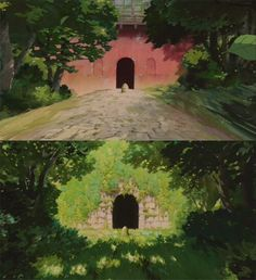 Different tunnel? (Spirited Away) : ghibli Studio Ghibli Wallpaper, Studio Ghibli Background, Studio Ghibli Art, Studio Ghibli Movies, Animation Background, Hayao Miyazaki, Totoro, Chihiro Y Haku, Graphisches Design