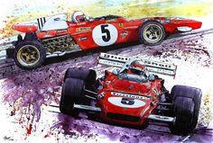 heart stone paper: heartstonepaper#8 inks,graphite,watercolors - Dream Cars - Ferrari to Delorean... by Grant Thomas