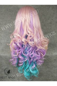 Synthétique lace front wig Cheveux méchés ondulés / Collection fantaisie