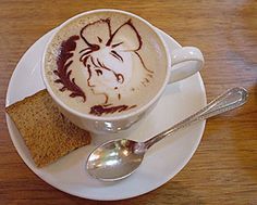 Walking Girl Coffee Art Design // Creative 3D Coffee Latte Art Pictures, Images & Designs