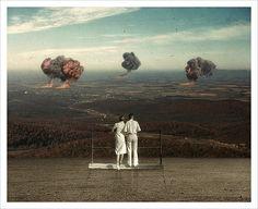 On the brink of destruction... Illustration by Joseba Elorza
