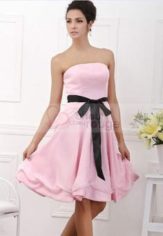 Robe de soiree rose poudree pas cher