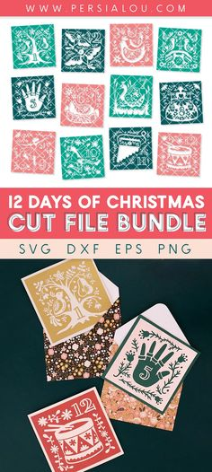 12 Days of Christmas SVG Cut File Bundle – 12 unique, hand drawn designs for the 12 Days of Christmas - use these designs with your Silhouette or Cricut to make unique gifts and decor this holiday season Christmas Svg, 12 Days Of Christmas, Christmas Themes, Holiday Decor, Scandinavian Folk Art, Cricut Tutorials, The Design Files, Vinyl Cutting, Vinyl Crafts