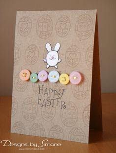 Happy Easter Bunny Card. By:DesignsBySimoneN