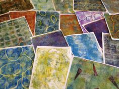 Making Monoprints with a Gelli Arts Gel Printing Plate