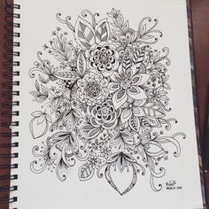 Art by Krisa Bousquet Tangle Doodle, Tangle Art, Zen Doodle, Doodle Art, Ink Doodles, Doodles Zentangles, Flower Doodles, Doodle Designs, Doodle Patterns