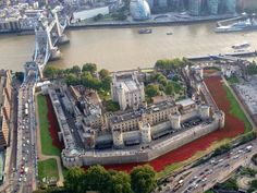 Aeriel view of Tower of London Poppies