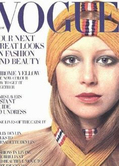 Pattie Boyd-Harrison (on the cover of Vogue magazine)