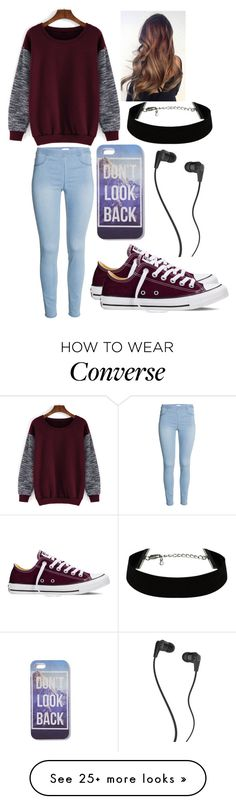 """In school"" by musicmelody1 on Polyvore featuring Converse, Skullcandy, women's…"