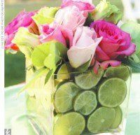 Fabulous Baby And Wedding Shower Centerpieces - Dig This Design Wedding Shower Centerpieces, Fruit Centerpieces, Wedding Table Flowers, Wedding Arrangements, Wedding Bouquets, Old Candles, Dining Decor, Color Mixing, Floral Design