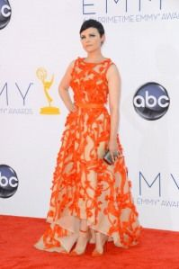 2012 Emmy Red Carpet...love the color, shape could use a little work