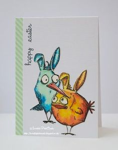 InvisiblePinkCards: Hoppy Easter from the Crazy Birds