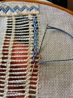 Drawn Thread Work and White Wo Hardanger Embroidery, Learn Embroidery, Hand Embroidery Stitches, Embroidery Needles, Embroidery Techniques, Embroidery Applique, Cross Stitch Embroidery, Embroidery Patterns, Drawn Thread