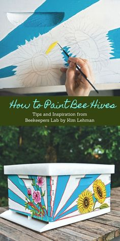 Best Diy Crafts Ideas How to Paint Beehives – Beehives are a blank canvas just waiting for inspiration to strike. Pick up a paintbrush and jazz up your apiary with these DIY painted beehive designs. Bee Hives Boxes, Bee Boxes, Beehive Design, Bee Hive Plans, Beekeeping For Beginners, Raising Bees, Bee Art, Bright Flowers, Bee Happy
