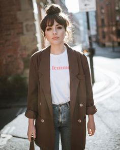 "Alice Catherine (@alicecatherine) on Instagram: ""Snapped wearing my new favourite @sezane t-shirt! All profits from this top will be donated to the…"""