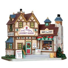 Lemax Village Collection Christmas Village Building, Two Sisters Gourmet Bakery - Seasonal - Christmas - Villages & Collectibles