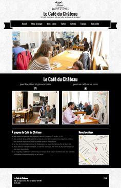 Le Café du Château à Mont Joli - un site Internet créé avec Mon site Primo