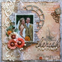 Cherish ~ **Dusty Attic & Maja Design Teams** - Limited Edition Maja Design paper called 'Nyhavn' and a variety of Dusty Attic chipboard pieces. http://gabriellepollacco.blogspot.ca/2015/01/getting-my-family-wedding-photos.html  http://www.scrapbook.com/gallery/image/layout/5267895.html#fuRJI6wi8jXYIcGc.99
