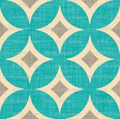 diamond_circles_aqua fabric by holli_zollinger for sale on Spoonflower - custom fabric