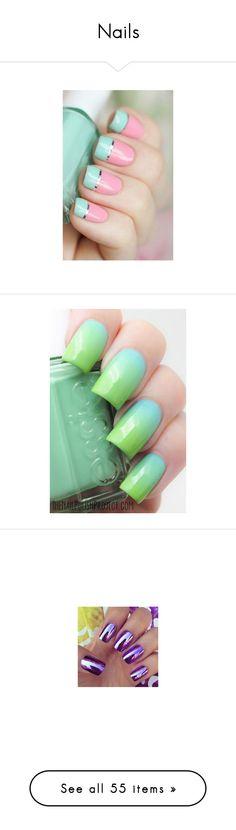 """""""Nails"""" by gisella-jb-pintos ❤ liked on Polyvore featuring beauty products, nail care, nail, nail art, butter london, nail polish, nails, makeup, accessories and blue green nail polish"""